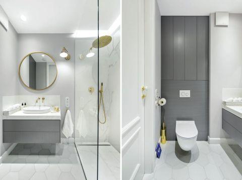 piękne biała łazienka w stylu francuskim