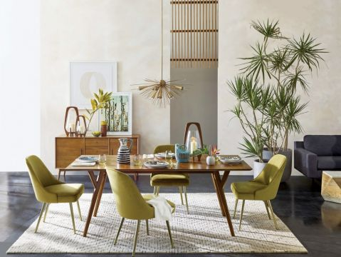 salon i jadalnia w kolorach natury