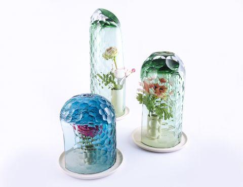 nowoczesne szklane wazony