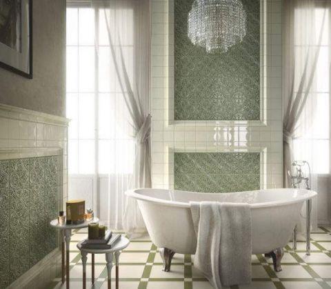 zielone płytki do łazienki eleganckie