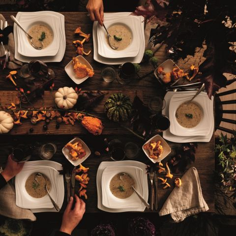 dekoracje stołu jesienne