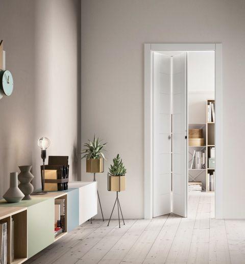 drzwi wewnętrze składane