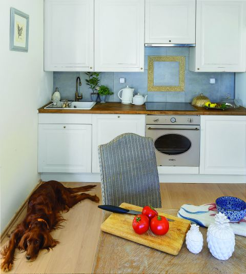 styl eklektyczny aranżacja białej kuchni