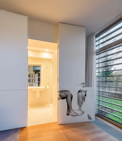 łazienka w stylu modernistycznym