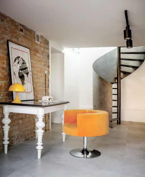 stylowe wnętrze hol schody