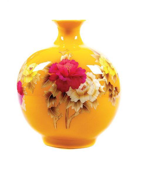 żółty wazon retro