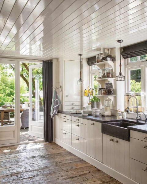 styl rustykalny biała kuchnia