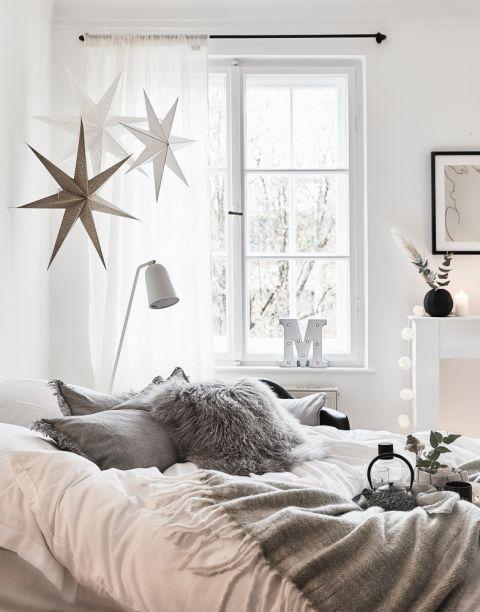 wystrój sypialni w stylu skandynawskim