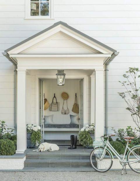 klasyczny dom wejście z portykiem