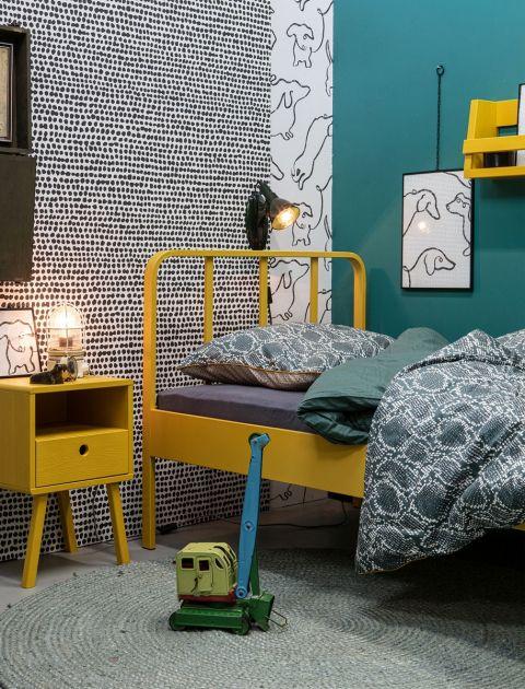 pomysł na ściany w pokoju młodzieżowym