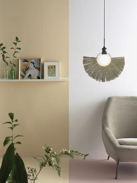 lampa wisząca do salonu styl boho