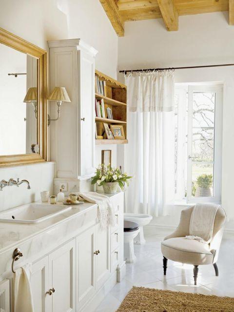 w prowansalskim stylu łazienka biel