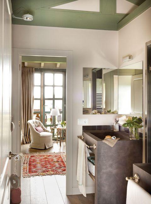 w rustykalnym stylu sypialnia widok