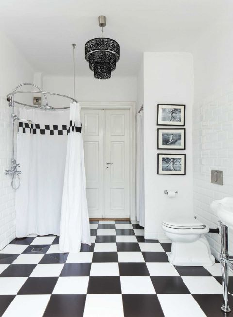 wystrój wnętrz w klimacie lat 30. łazienka