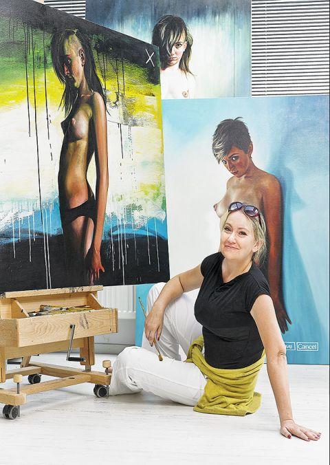 Anna Kmita w swojej pracowni. Dom z miliona pomysłów