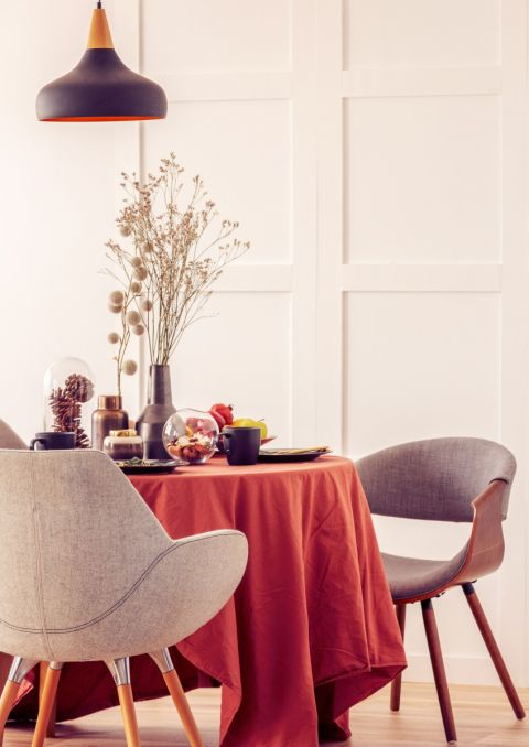 Aranżacja stołu w jesiennych kolorach