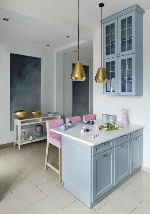 niebieskie szafki kuchenne aranżacje