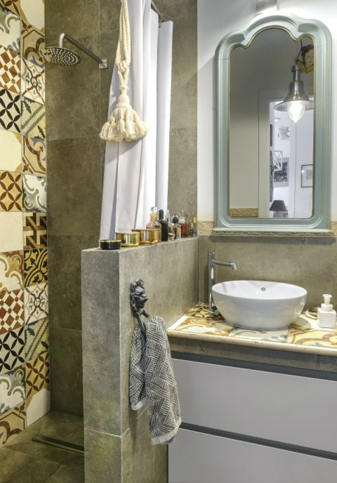 łazienka w artystycznym stylu