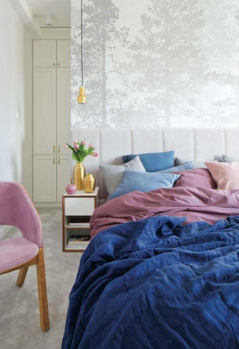 pastelowa sypialnia aranżacje