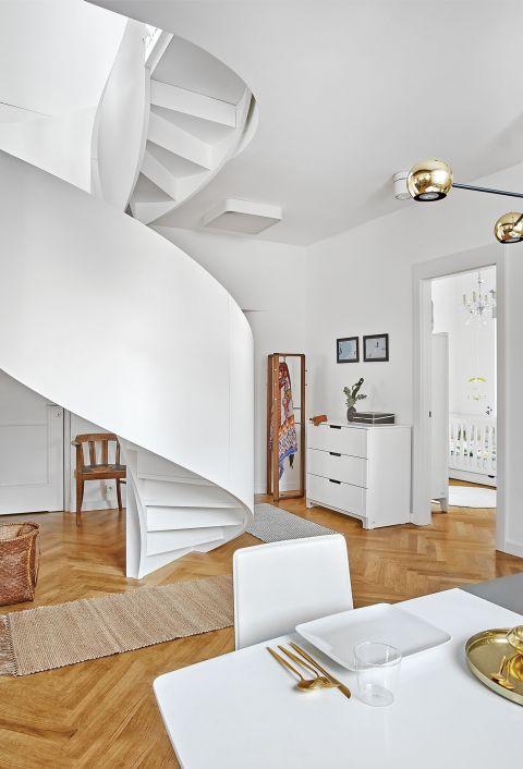stylowe wnętrze minimalizm  salon parkiet