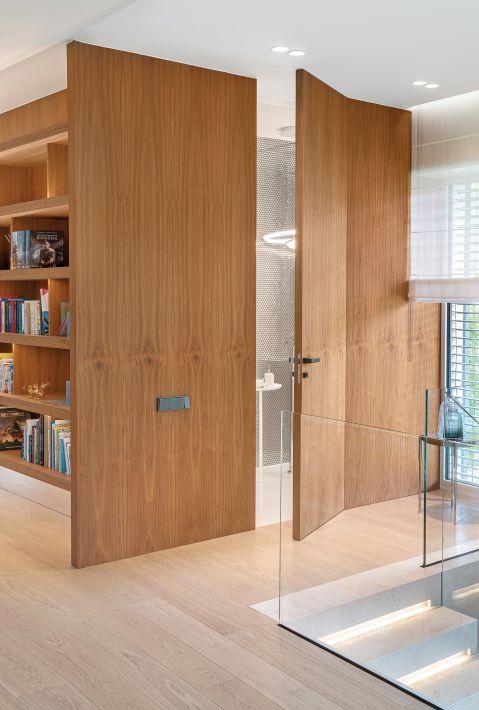 nowoczesne wnętrza z drewnem