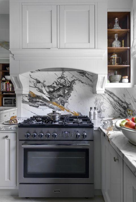 styl klasyczny szara kuchnia