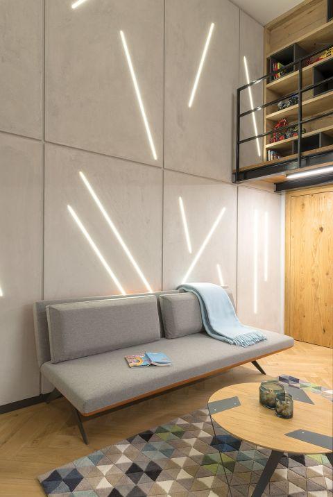nowoczesne wnętrza szara kanapa