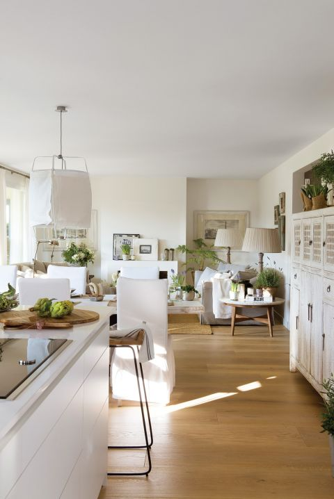 styl rustykalny salon z kuchnią