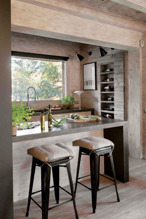 kuchnia w drewnie w stylu skandynawskim