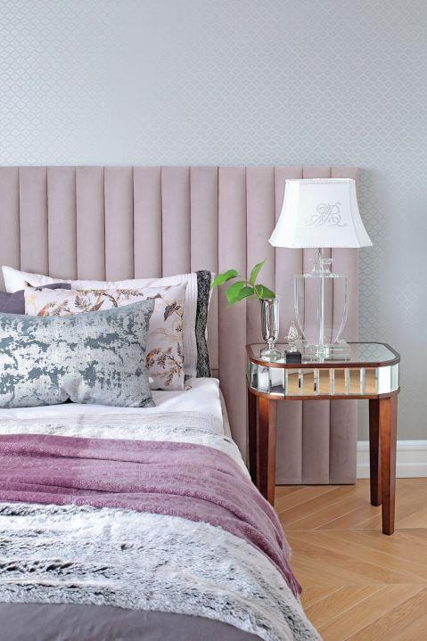w stylu art déco sypialnia róż