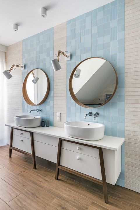 styl nowoczesny łazienka umywalka