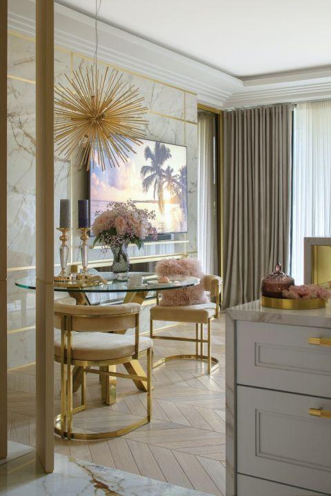 złoty salon aranżacje zdjęcia inspiracje