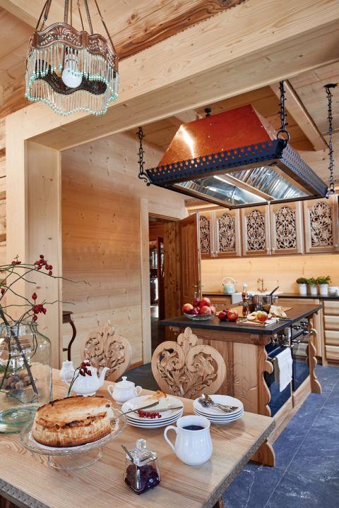 wystrój kuchni w stylu góralskim