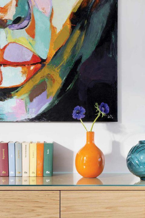 dekoracje wnętrz kolorowe wazony