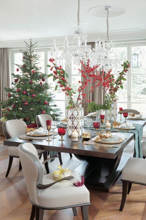 dekoracje bożonarodzeniowe stołu