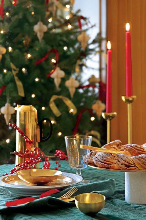 dekoracje stołu wigilijnego