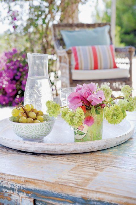 dekoracje na letni stół