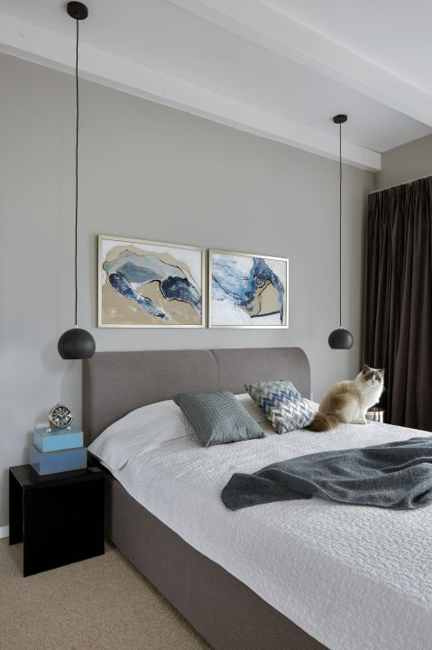 nowoczesne wnętrze sypialnia dodatki