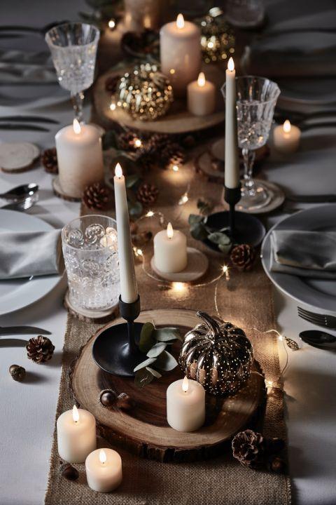 Jesienna aranżacja stołu, Lights4fun, lights4fun.co.uk