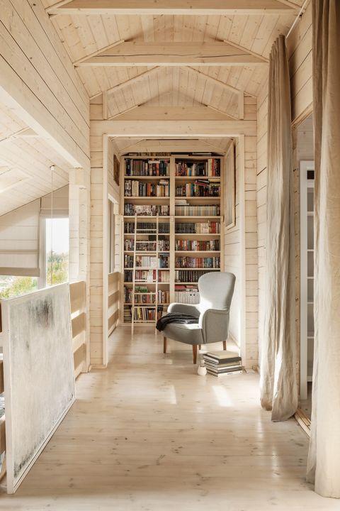 miejsce na książki w domu