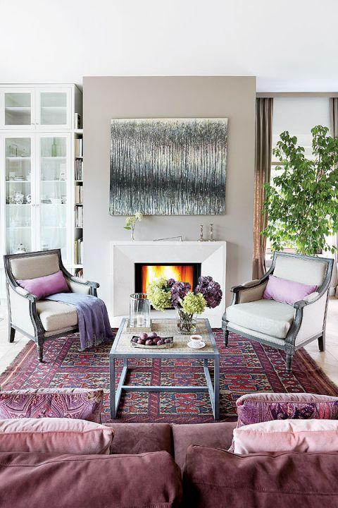 różowy salon w stylu francuskim