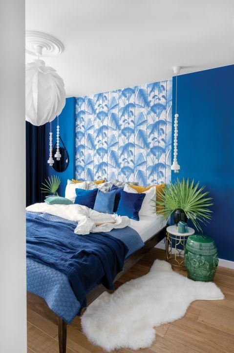 niebieska sypialnia ja urządzić