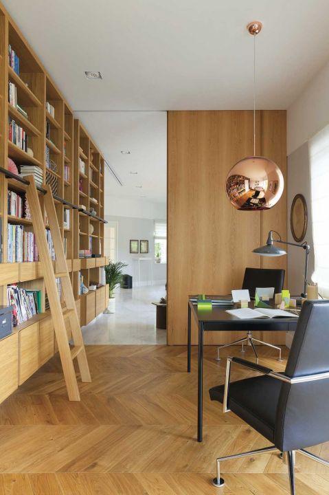 nowoczesny dom biblioteka