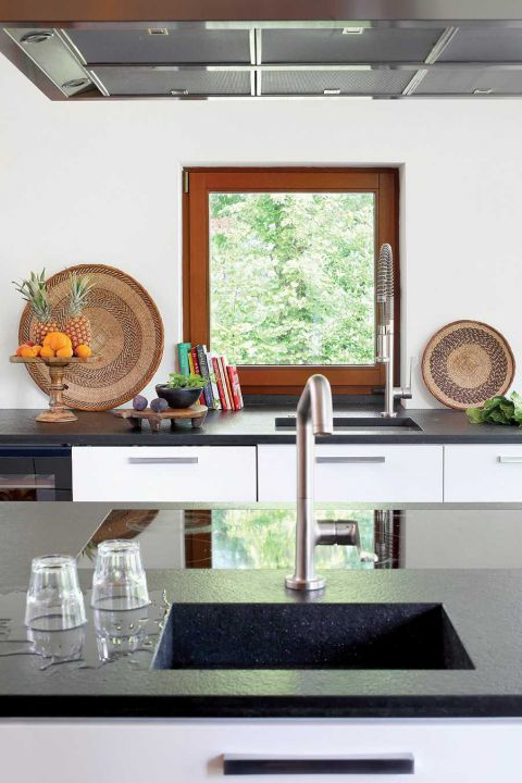 nowoczesny dom kuchnia zlew