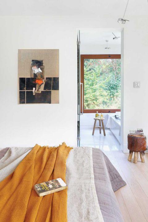 nowoczesny dom łóżko