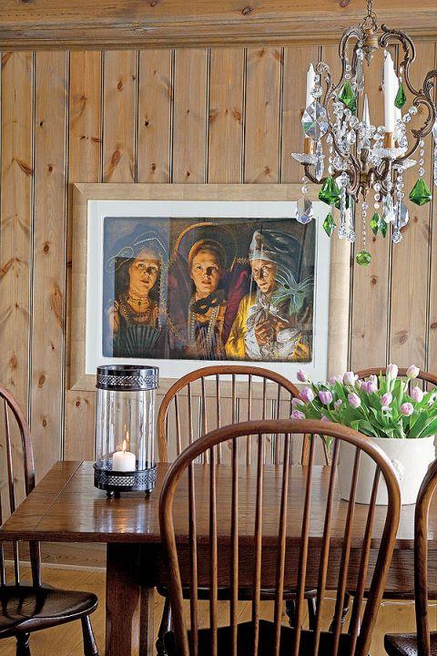 Skandynawski dom w ciepłym stylu prowansalskim