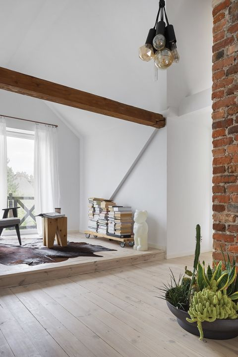 nowoczesne wnętrza w starym domu