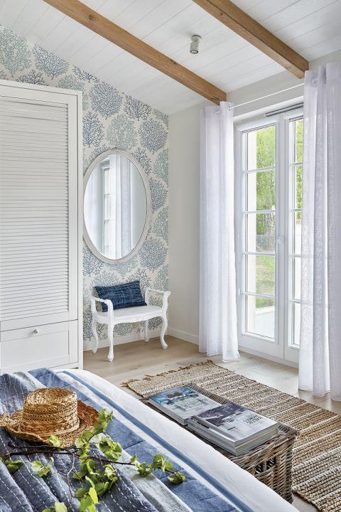 sypialnia w stylu Hampton zdjęcia