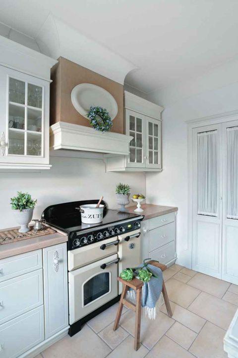 styl loftowy z francuską klasyką kuchnia
