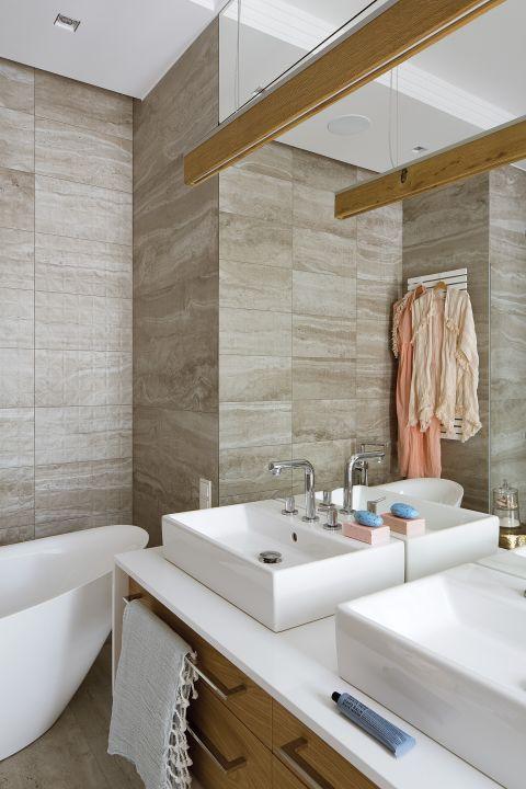 wnętrze w nowoczesnym stylu  umywalka